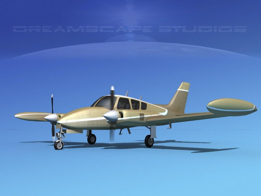 cockpit cessna 320 3D model