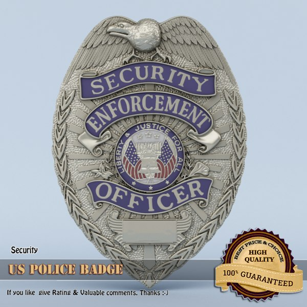3D police badge