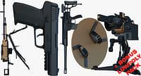 weapons bonus pack gun pistol 3D model