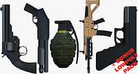 3D weapons bonus pack shot gun model