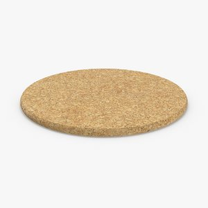 cork-coasters---round-single 3D model