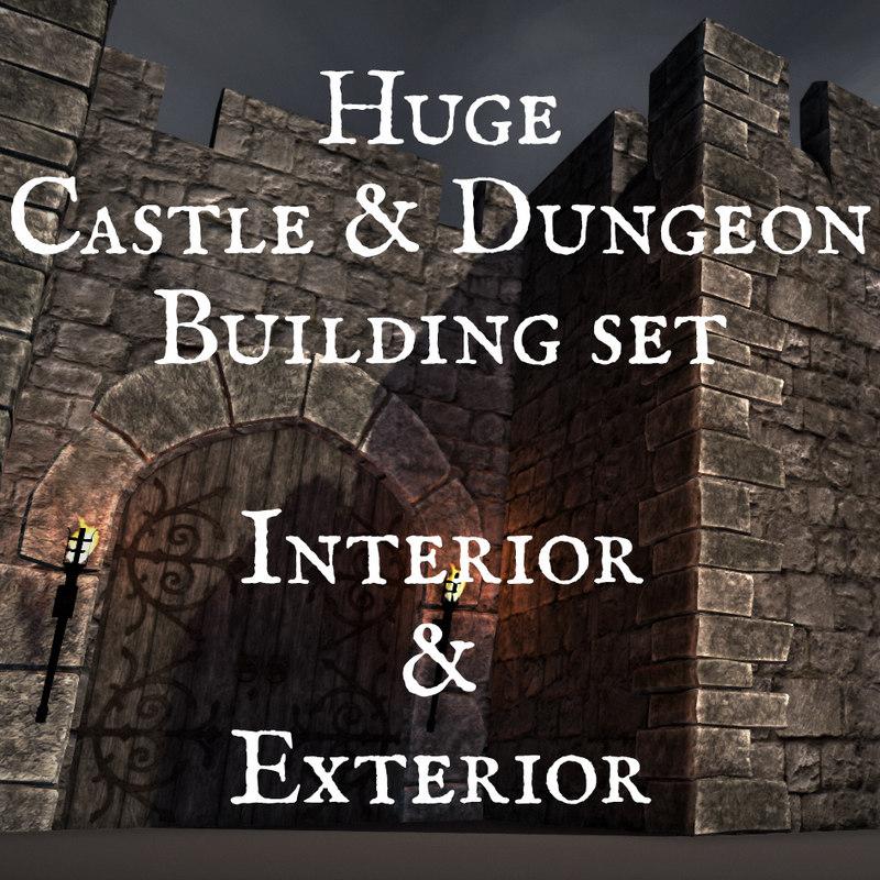 castle dungeon creation set model
