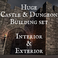 Modular Castle & Dungeon Creation Set for Blender 3d, V2