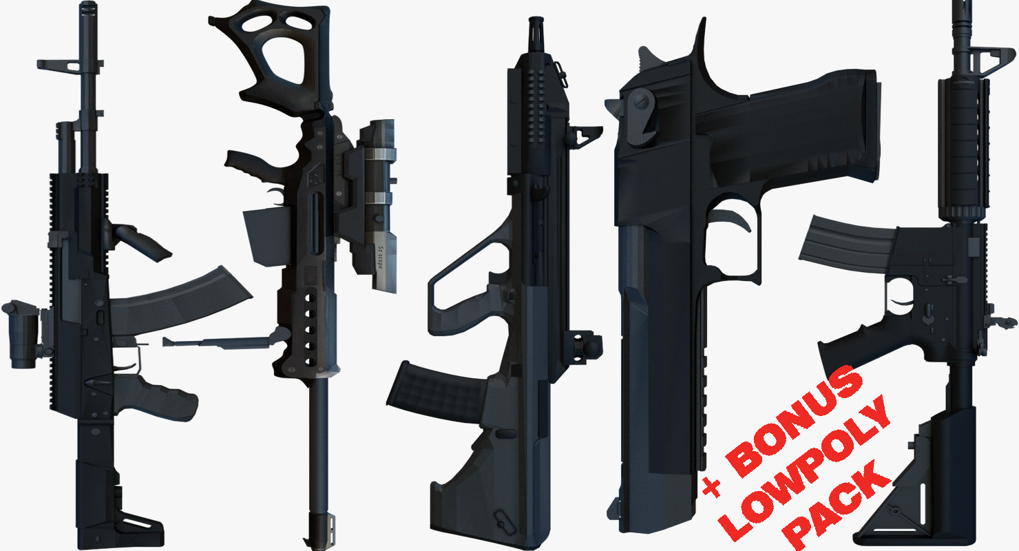 3D weapons bonus pack gun