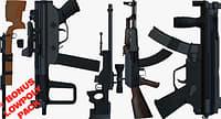 3D weapons bonus pack ak47 gun model