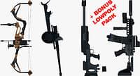 3D weapons bonus pack gun