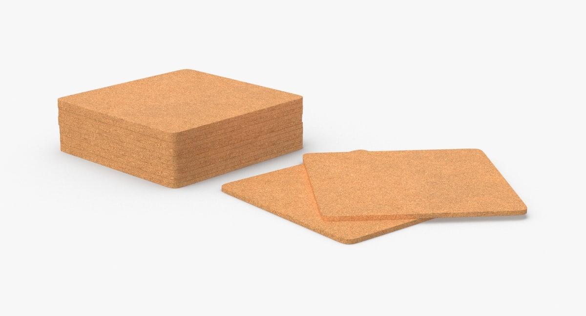 3D cork-coasters---square-set model