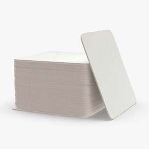 paper-coasters---square-set 3D model