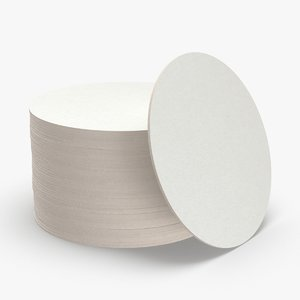 paper-coasters---round-set 3D model