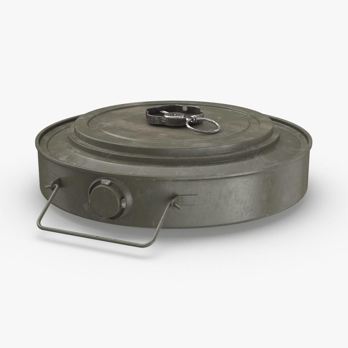 3D anti-tank-mine model