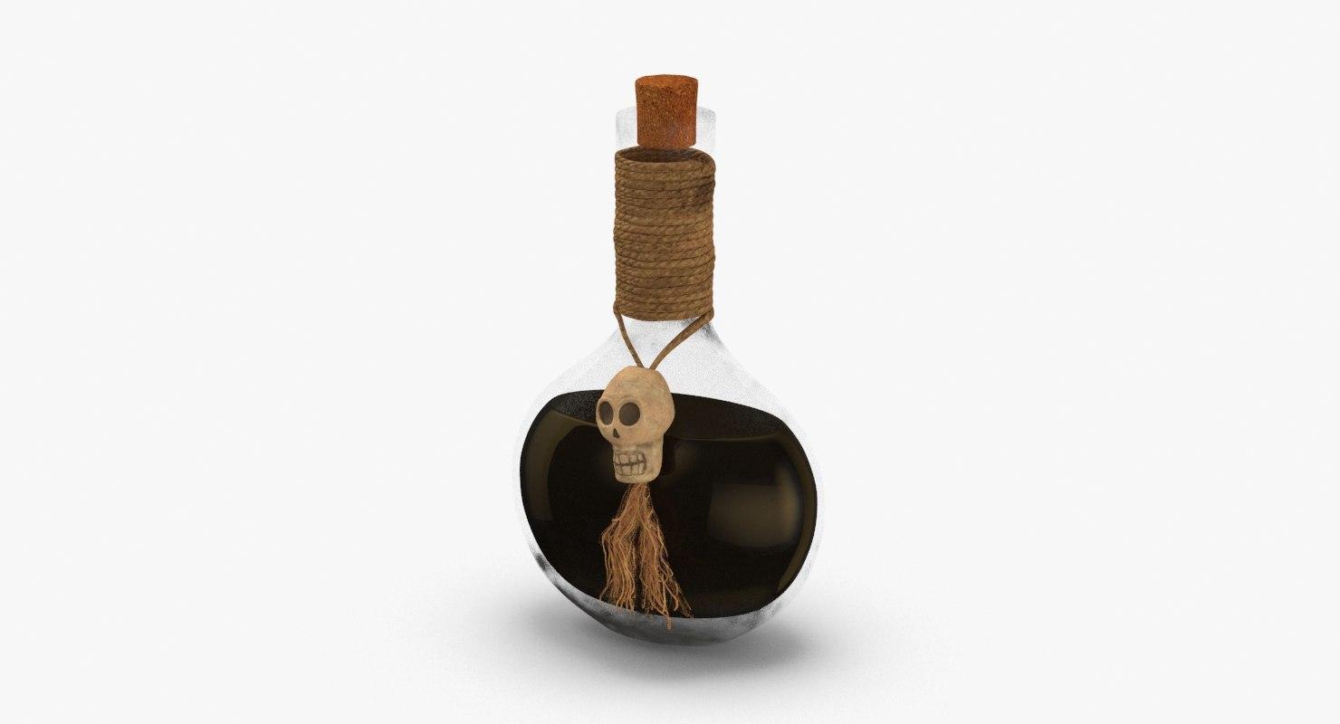 potion-jar-bottles-01---black 3D model