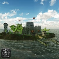 3D model advanced fortress