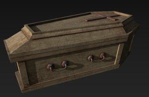3D wooden coffin