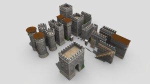 italian castle kit 3D model