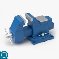 3D model bench vise