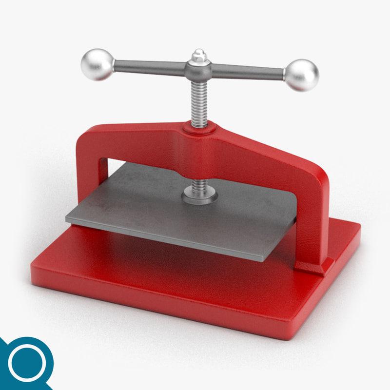 paper manual press 3D