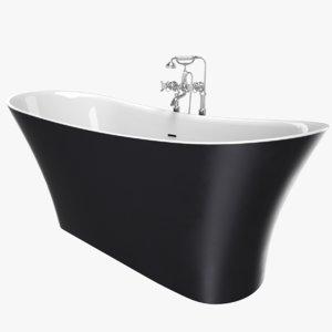 3D vintage bathtub holywell cast iron