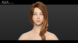ava - beautiful 3D