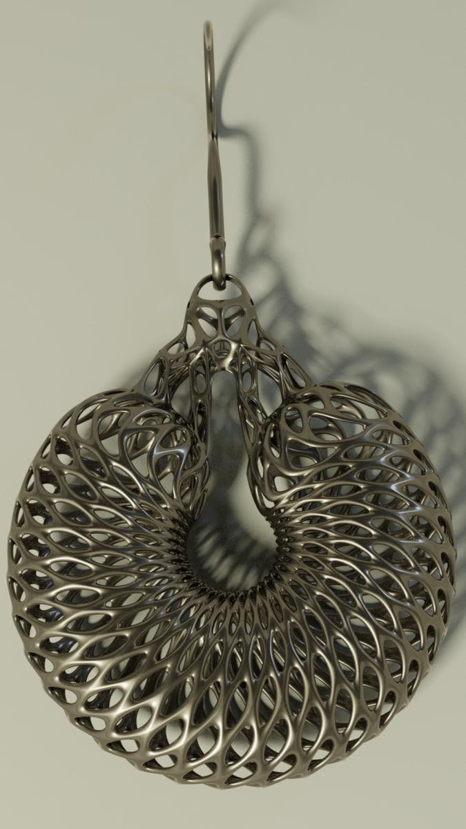 3D interstellar earring ring