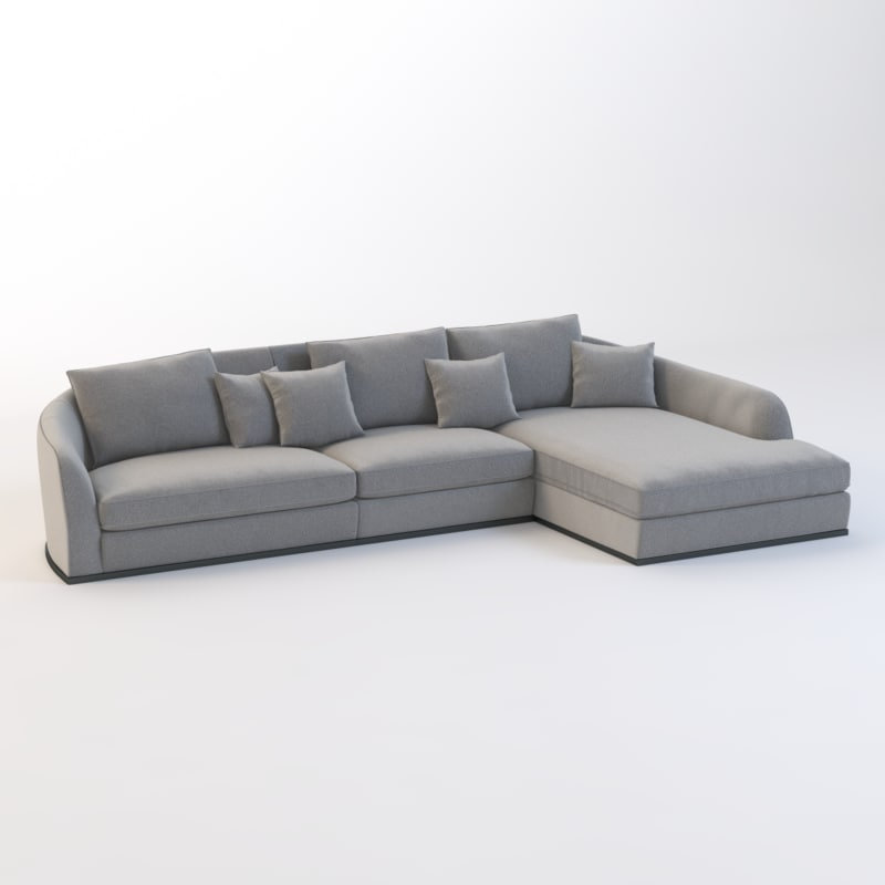 realistic photoreal chaise 3D model