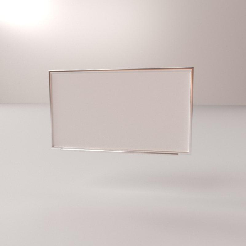 3D model whiteboard board white