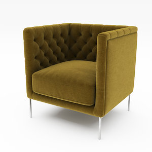 3D lipp armchair model