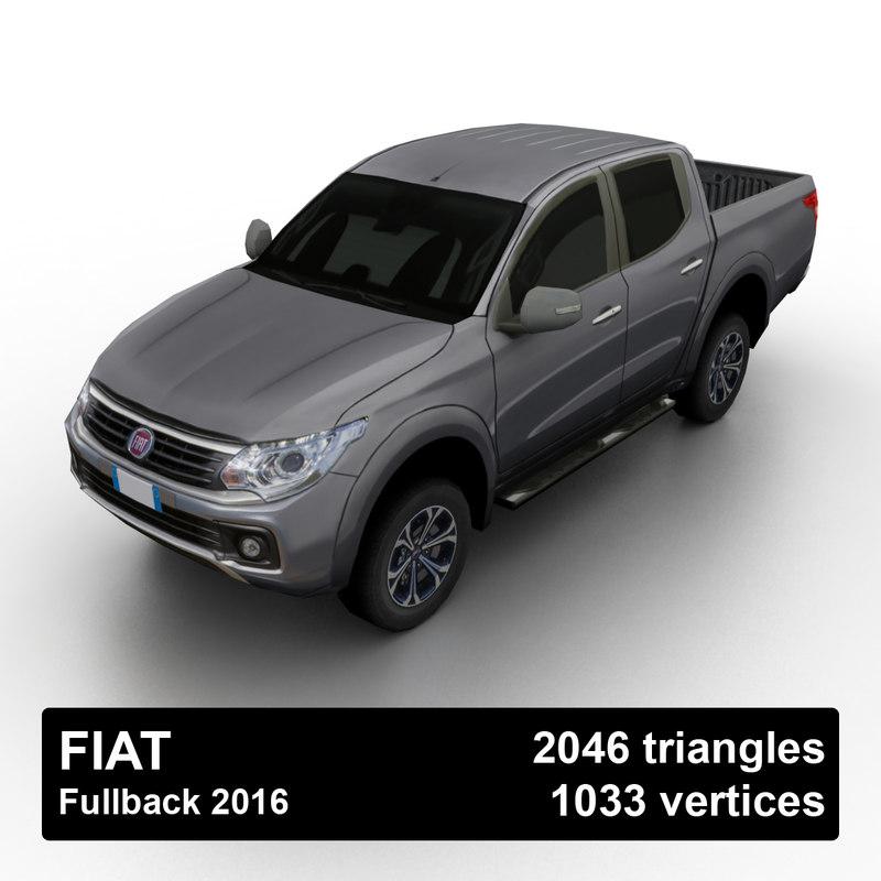 3D 2016 fiat fullback pickup truck