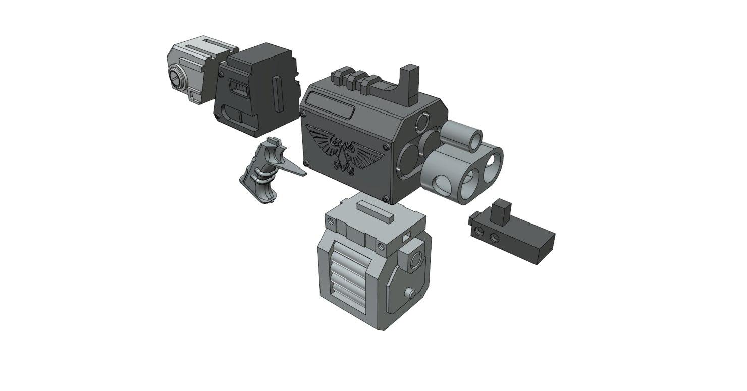 storm bolter pistol 3D model