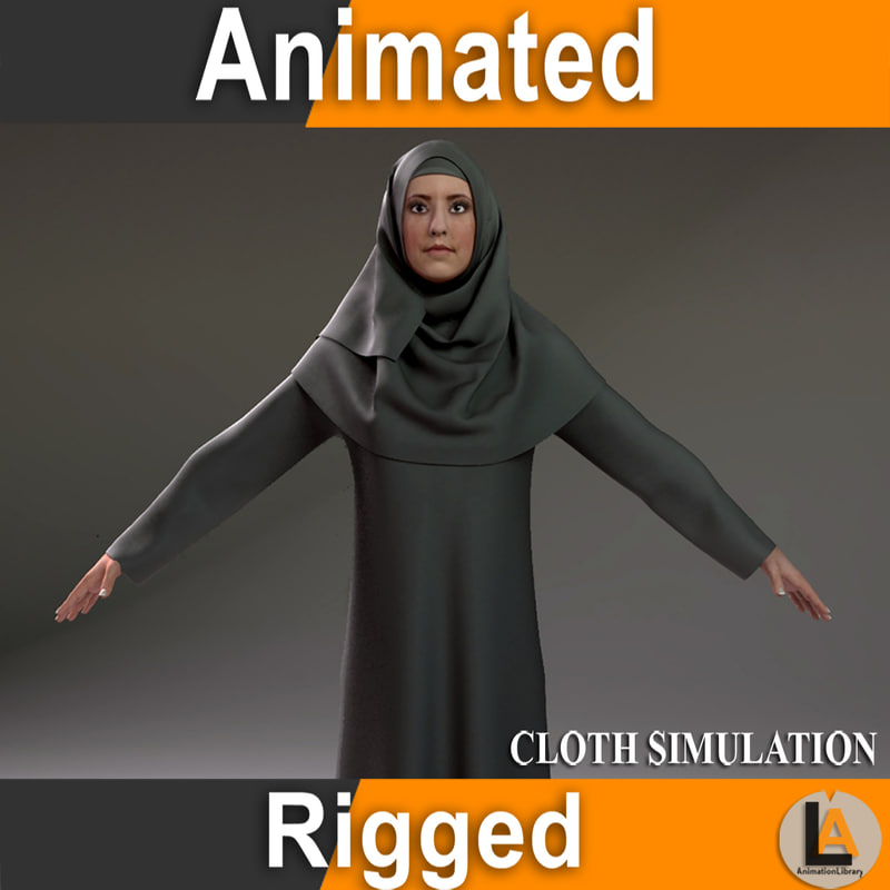 3D model arabic character animation
