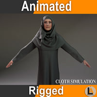 3D model arabic character animation
