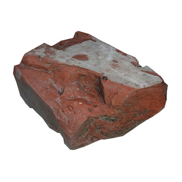 brick scan photorealistic 3D model
