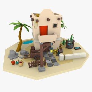 desert building model