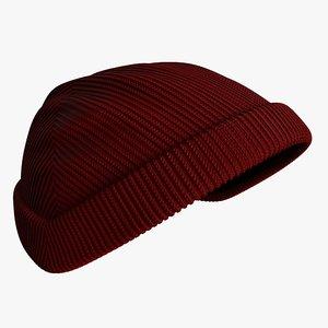 realistic winter hat 3D model