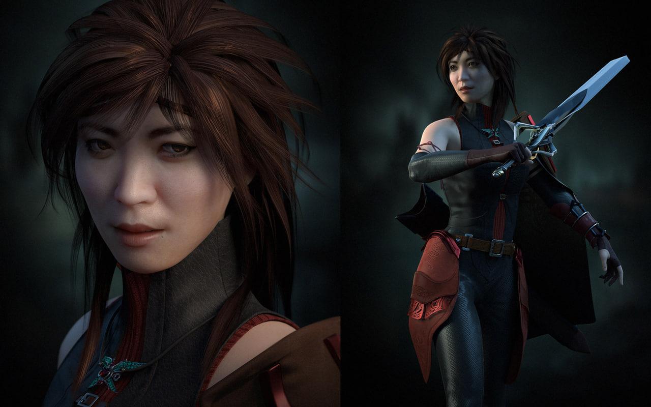woman fantasy character 3D model