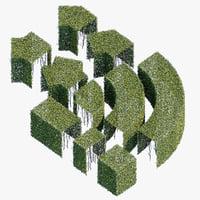 hedge h 3D