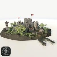 island fortress 3D model