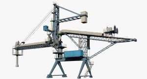 3D shiploader ship loader model