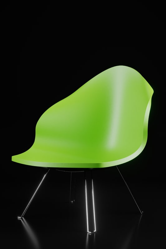 retro chair plastic model