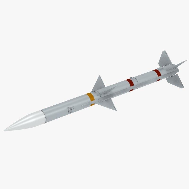 3D air missile aim120 amraam model