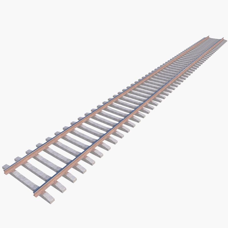 Free railway track 3D model - TurboSquid 1164592