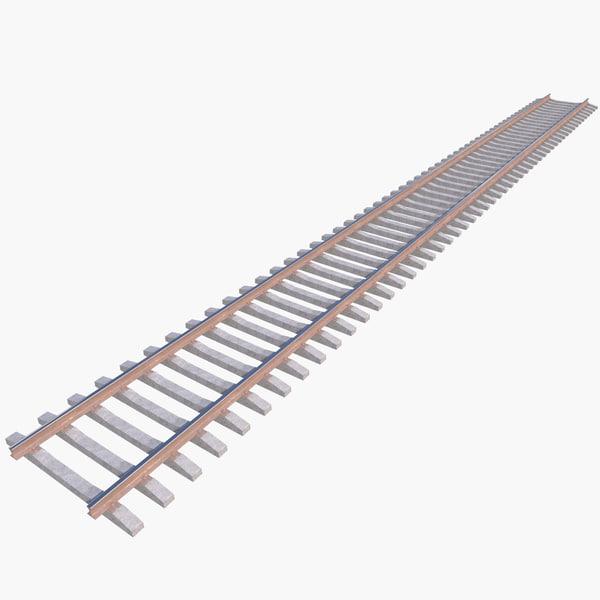 railway track 3D model