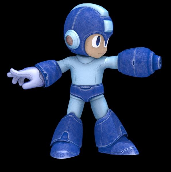 3D complete rig megaman character
