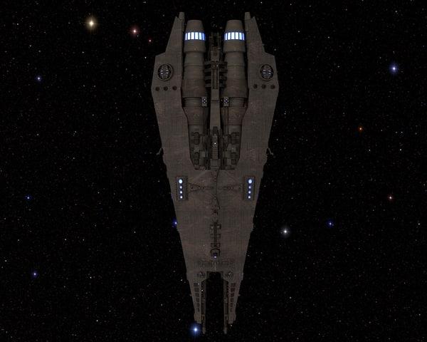 3D heavy battle cruiser