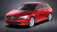 3D mercedes-benz 2017 cla