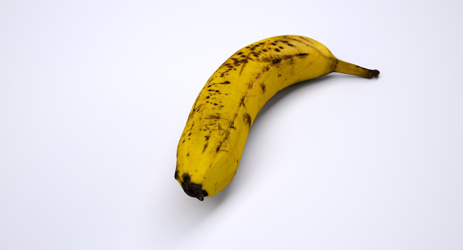 highres banana 3D