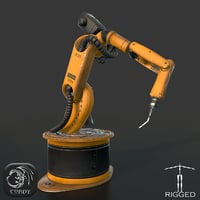 3D model industrial robot kuka welding