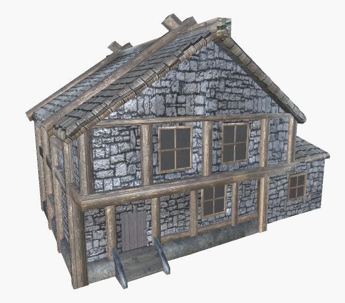 3D medieval house addon