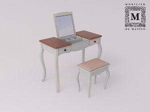 make-up table mirror belveder 3D model