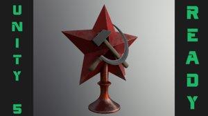 3D soviet star