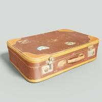 vintage suitcase retro 2 3D model